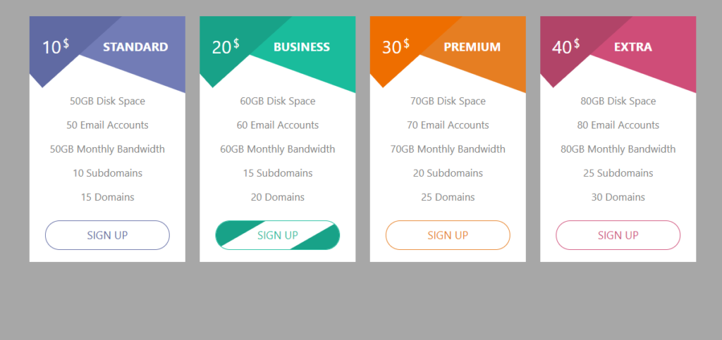 Cool Bootstrap 5 Pricing Table Templates