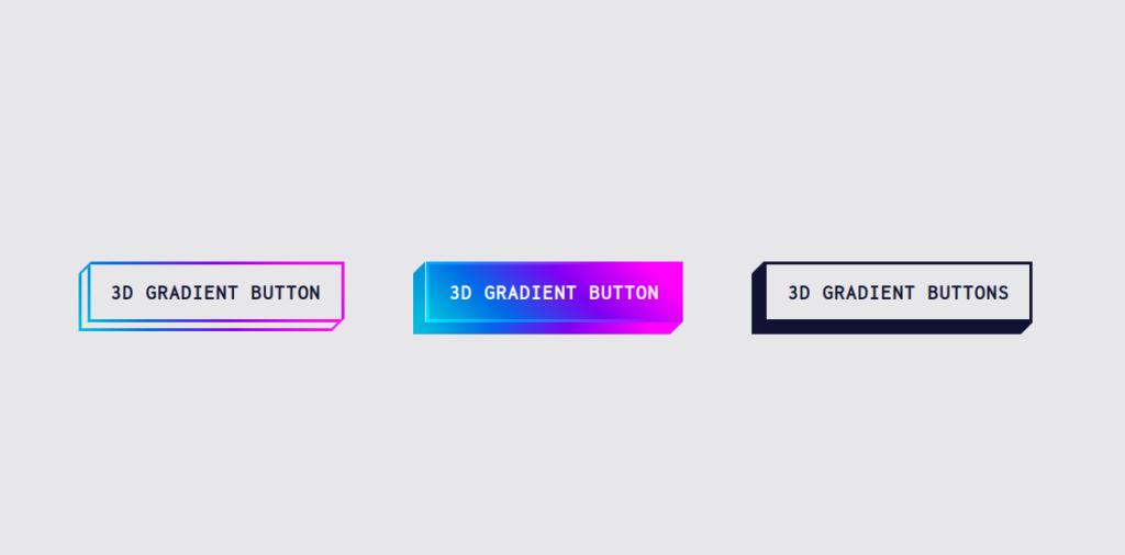 3D Gradient Buttons